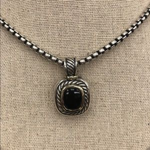 David Yurman Albion Onyx Enhancer with Chain